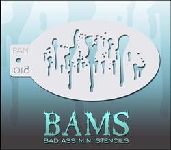 Bad Ass Schmink Stencil 1018