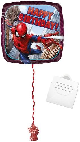 Ballonpost Folieballon Happy Birthday - Spiderman (43cm)