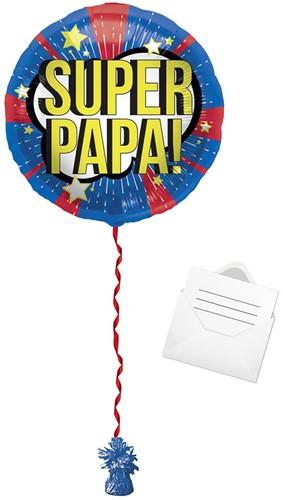 Ballonpost Folieballon 'Super Papa!' (45cm)