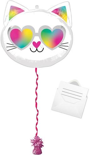 Ballonpost Folieballon Cool Kitty (43x43cm)
