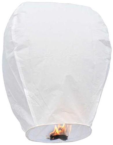 Wensballon Wit (90x37cm) Biologisch Afbreekbaar