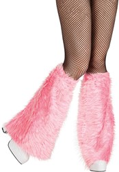 Beenwarmers Pluche 2st. Pink