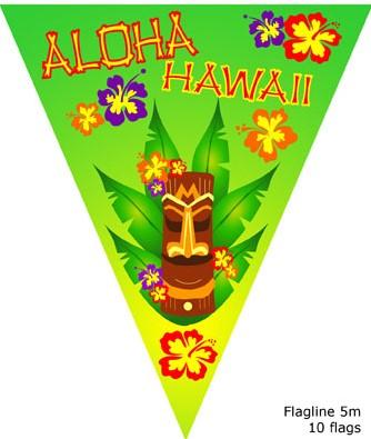 Vlaggenlijn Hawai 5mtr Aloha