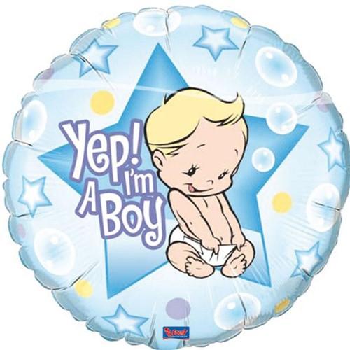 Folieballon Yep Boy! (46cm)