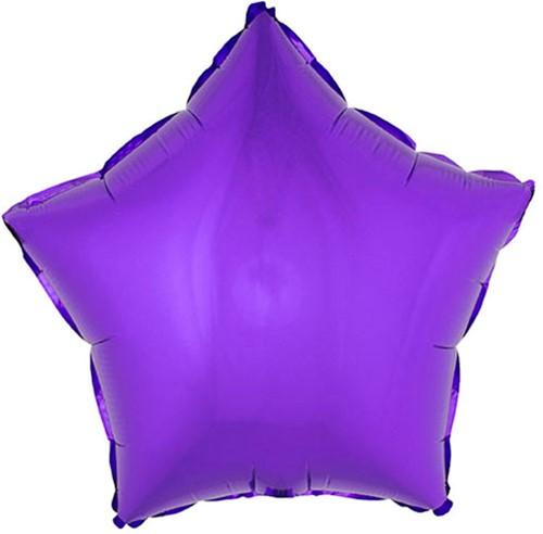 Folieballon Ster Metallic Paars (53x46cm)