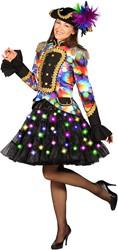 Petticoat Zwart Luxe met Multi LED-Verlichting