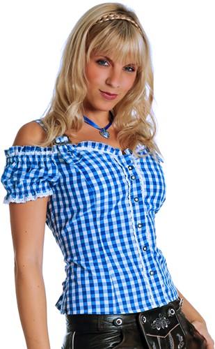 Tiroler Blouse Anne Luxe Blauw