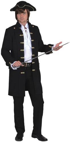 Heren Piratenjas Luxe Zwart