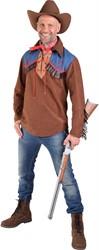 Heren Cowboy Hemd Bruin met Jeans