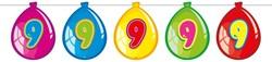 Ballonnen Vlaggenlijn 9 Jaar (10m)