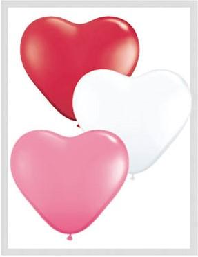 Hartballonnen Assorti 25cm 100 stuks