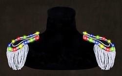 Epauletten Zwart-Zilver met Multi LED-verlichting