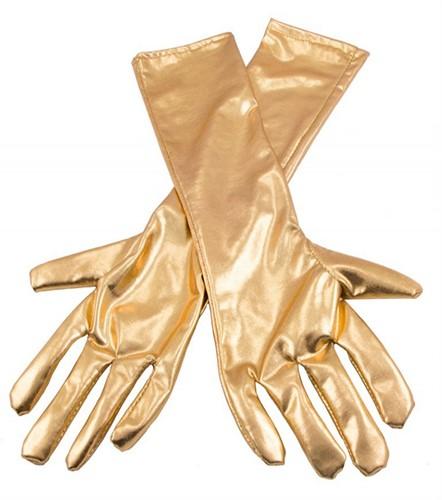 Handschoenen Metallic Goud 40cm