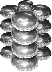 Cluster Folieballonnen Rond Metallic Zilver 10st.
