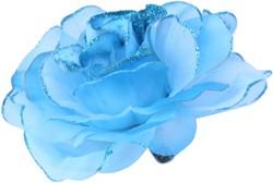 Bloemenbroche Glitter + Klem Blauw