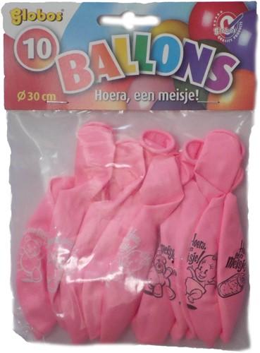 Hoera Meisje ballonnen 10st
