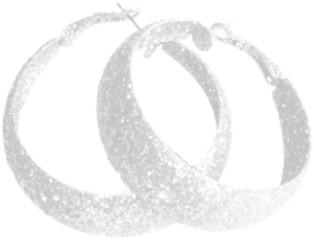 Oorbellen Glitter Wit