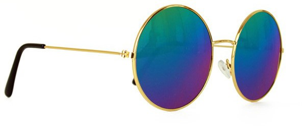 f4ce9aa29ecf7f John Lennon Bril met Spiegel Olieglas Blauw