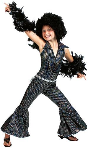 Disco Jumpsuit Zwart voor Meisjes