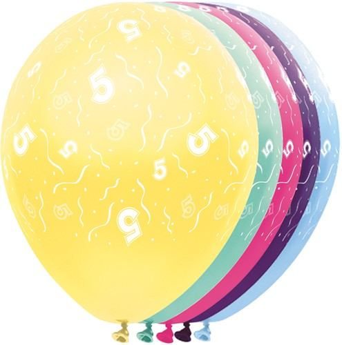 Ballonnen 5 jaar Metallic 5st