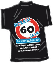 Mini-shirt 60 jaar