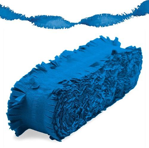 Crepeguirlande Blauw Brandveilig (24m)