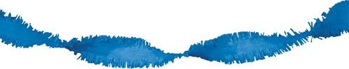 Crepeguirlande Blauw Brandveilig (24m)-2
