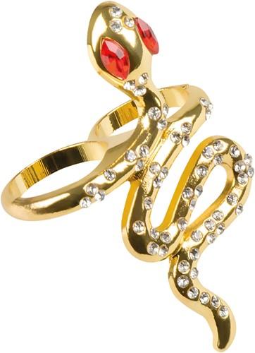 Epyptische Ring Slang met Strass