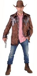 Cowboyjas Bruin kort voor heren