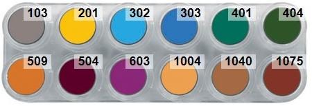 Grimas Water Make-up Palet 12B