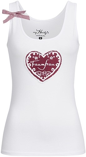 Dames Trachten T-shirt Traumfrau Wit