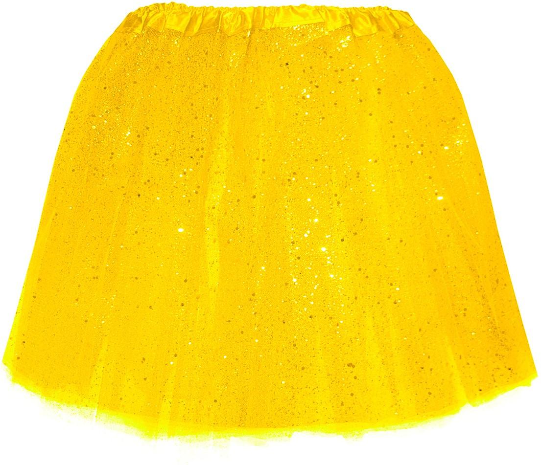 7a59b4929c1fd1 Tule Rokje Geel met Glitter