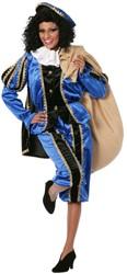 Dameskostuum Zwarte Piet Luxe met Cape Blauw