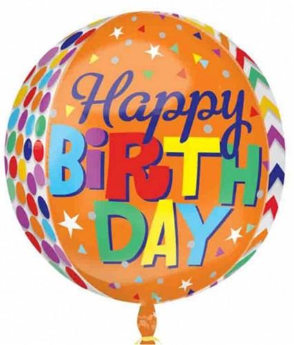 Orbz XL Ballon Happy Birthday Patterns