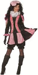 Dames Pietenpak Pepita Roze-Zwart