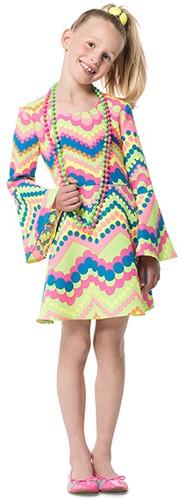 Jurkje GoGo Girl Neon Turqoise/Pink
