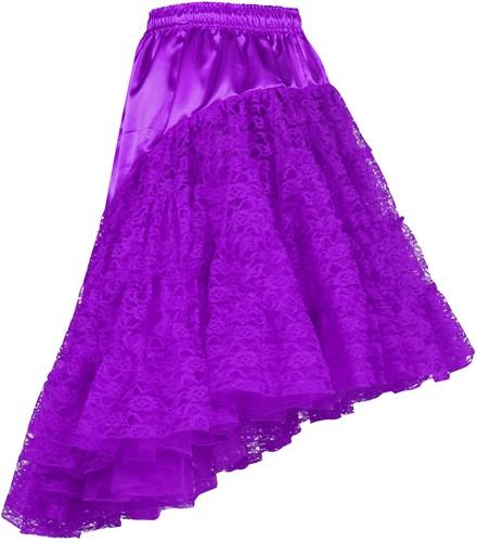 Petticoat met Kant Luxe Paars