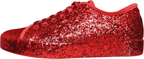 Glitter Sneaker Rood voor dames