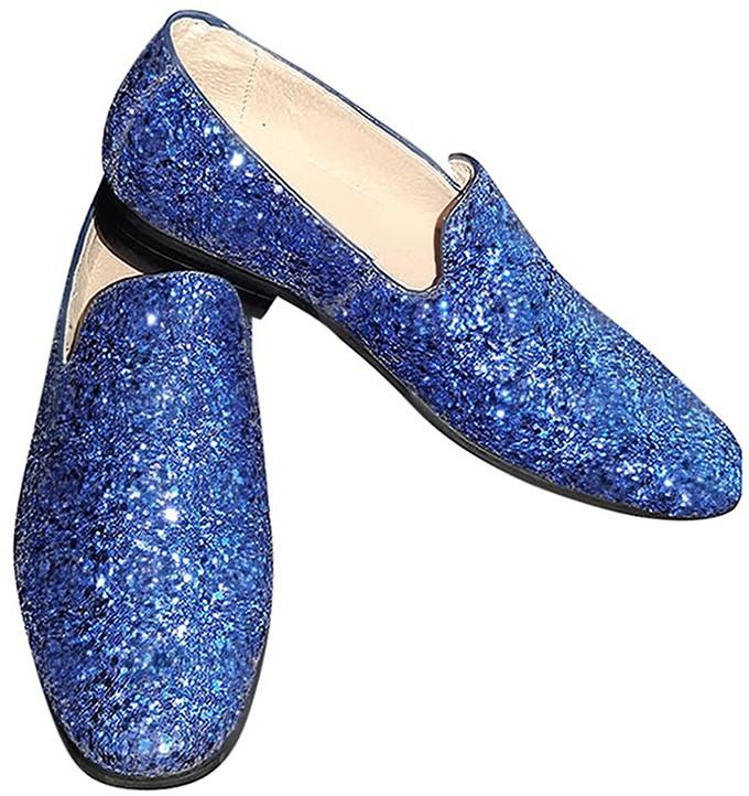 57f1c87e5adf36 Foute Glitter Schoenen Blauw voor heren