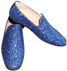 Foute Glitter Schoenen Blauw voor heren