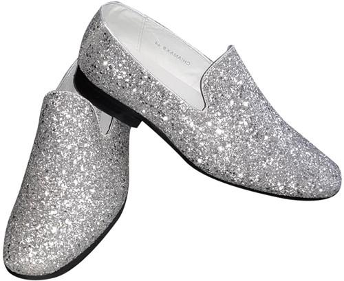 Foute Glitter Schoenen Zilver voor heren