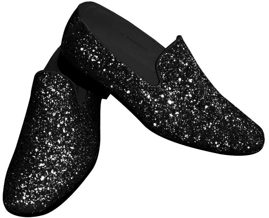 d35a6279ac811d Foute Glitter Schoenen Zwart voor heren