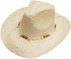Cowboyhoed Ecru + Ketting