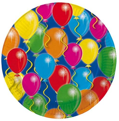 Bordjes Balloons 8st. 23cm