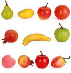 Decoratie Fruit Klein Assorti 11st.