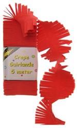Crepe Guirlande Rood 5 mtr