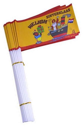 Zwaaivlaggetje Welkom Sinterklaas Stoomboot