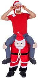 Piggyback Kostuum Kerstman