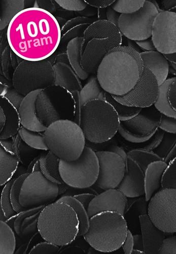 Confetti 100 gr Brandveilig Zwart