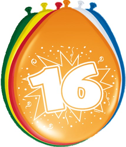 Ballonnen 16 jaar 8st